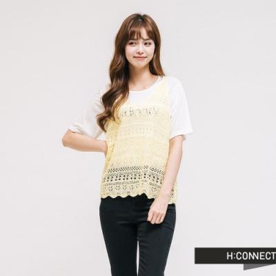H:CONNECT 韓國品牌 女裝 - 針織造型背心 - 黃