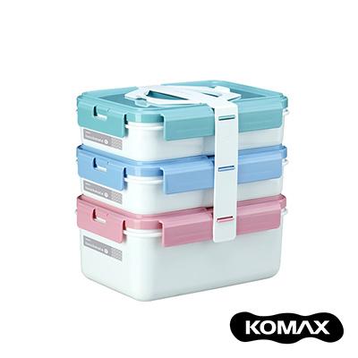 韓國KOMAX 長型三層餐盒組- 共兩色