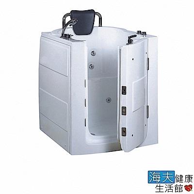 海夫健康生活館 開門式浴缸 110-T 恆溫水柱按摩款 (95*80*100cm)