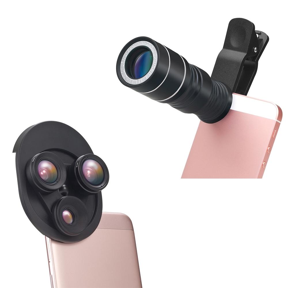 E-books 鏡頭套裝組 -12倍望遠鏡頭組+轉盤式三合一特效鏡頭 (N51+N62)
