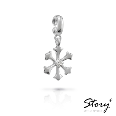 STORY故事銀飾-X mas系列-Snow天然鑽石 扣扣墜飾