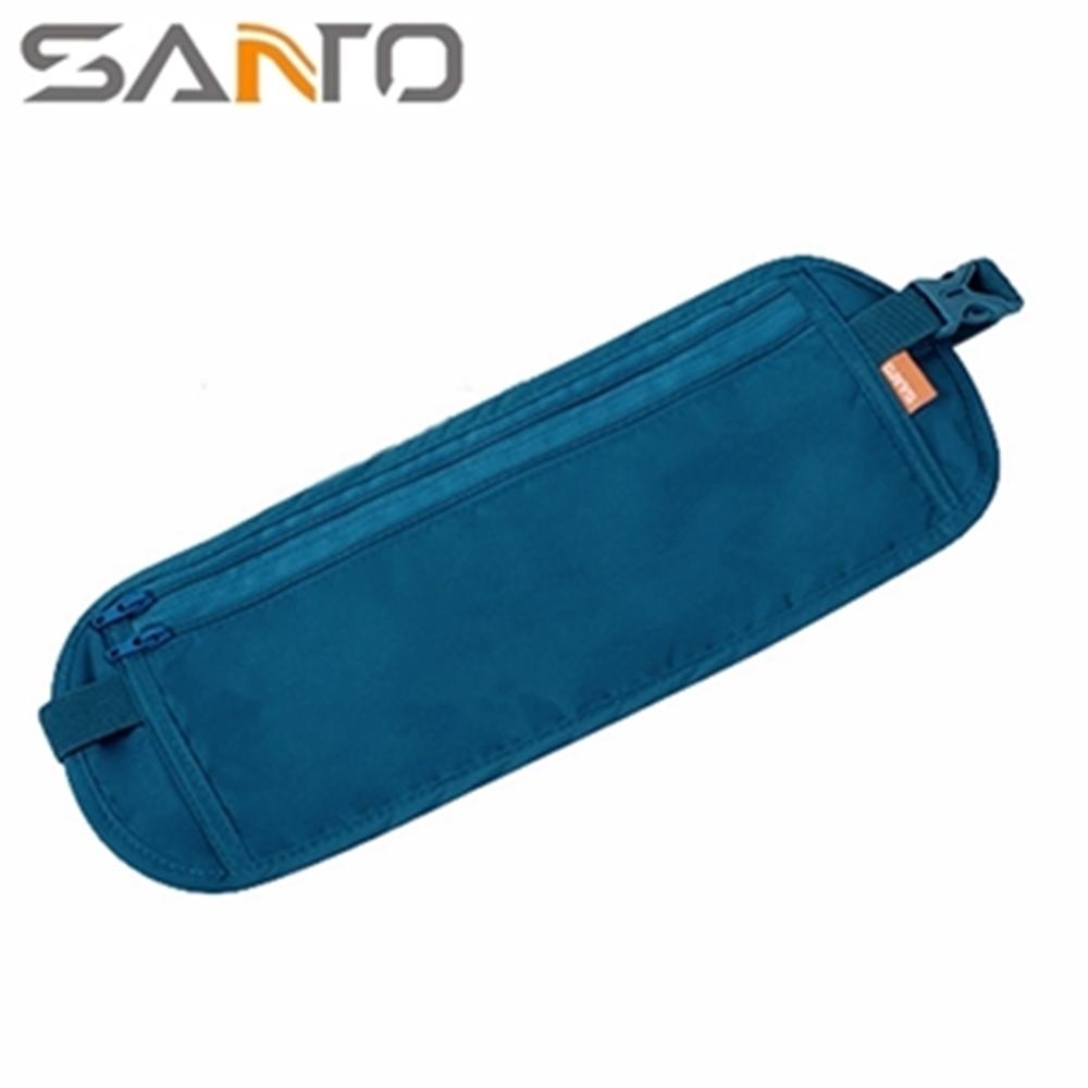 Santo貼身旅遊運動腰包W-02超薄防扒竊貼身腰包