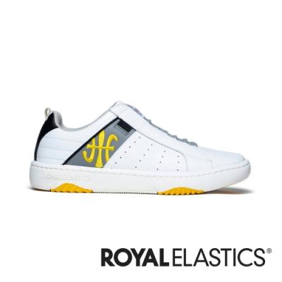 ROYAL ELASTICS ICON2.0 白灰黃真皮潮流運動休閒鞋 (男) 06501-083