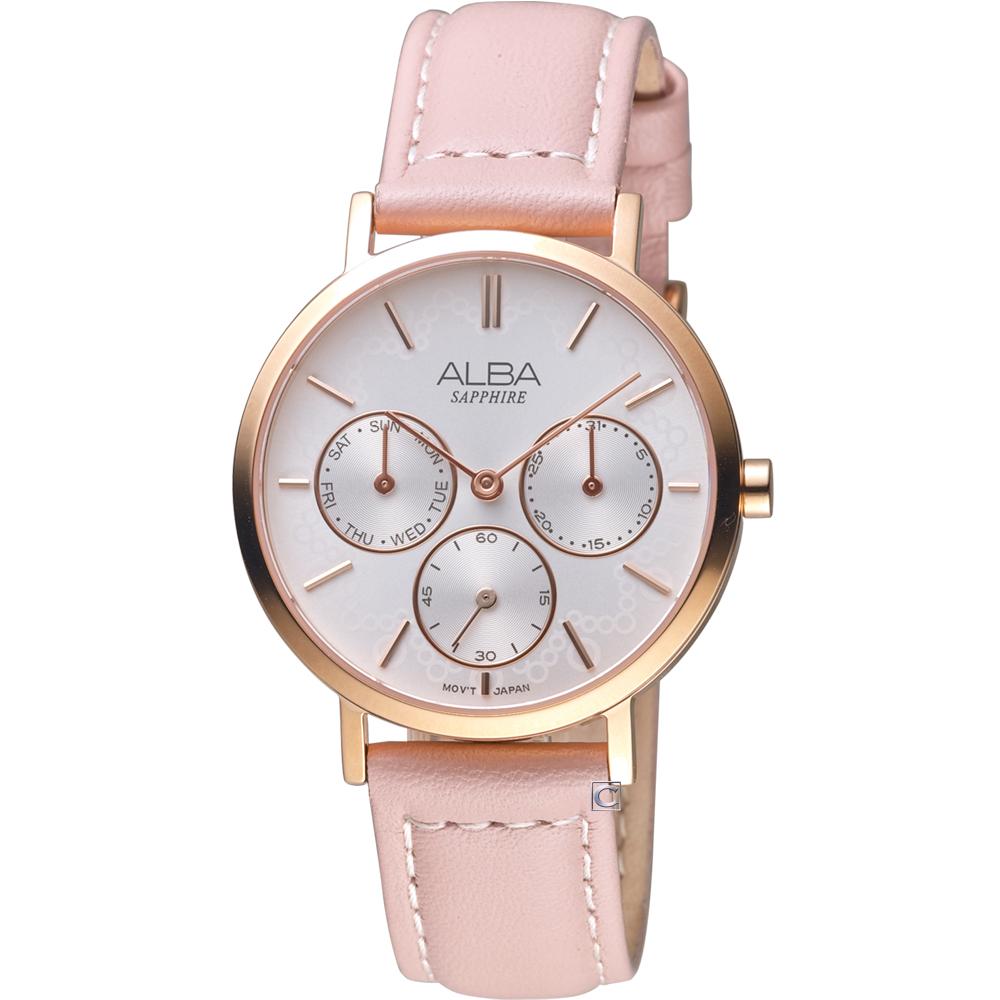ALBA雅柏俏皮泡泡時尚腕錶(VD75-X118P AP6610X1)-粉色