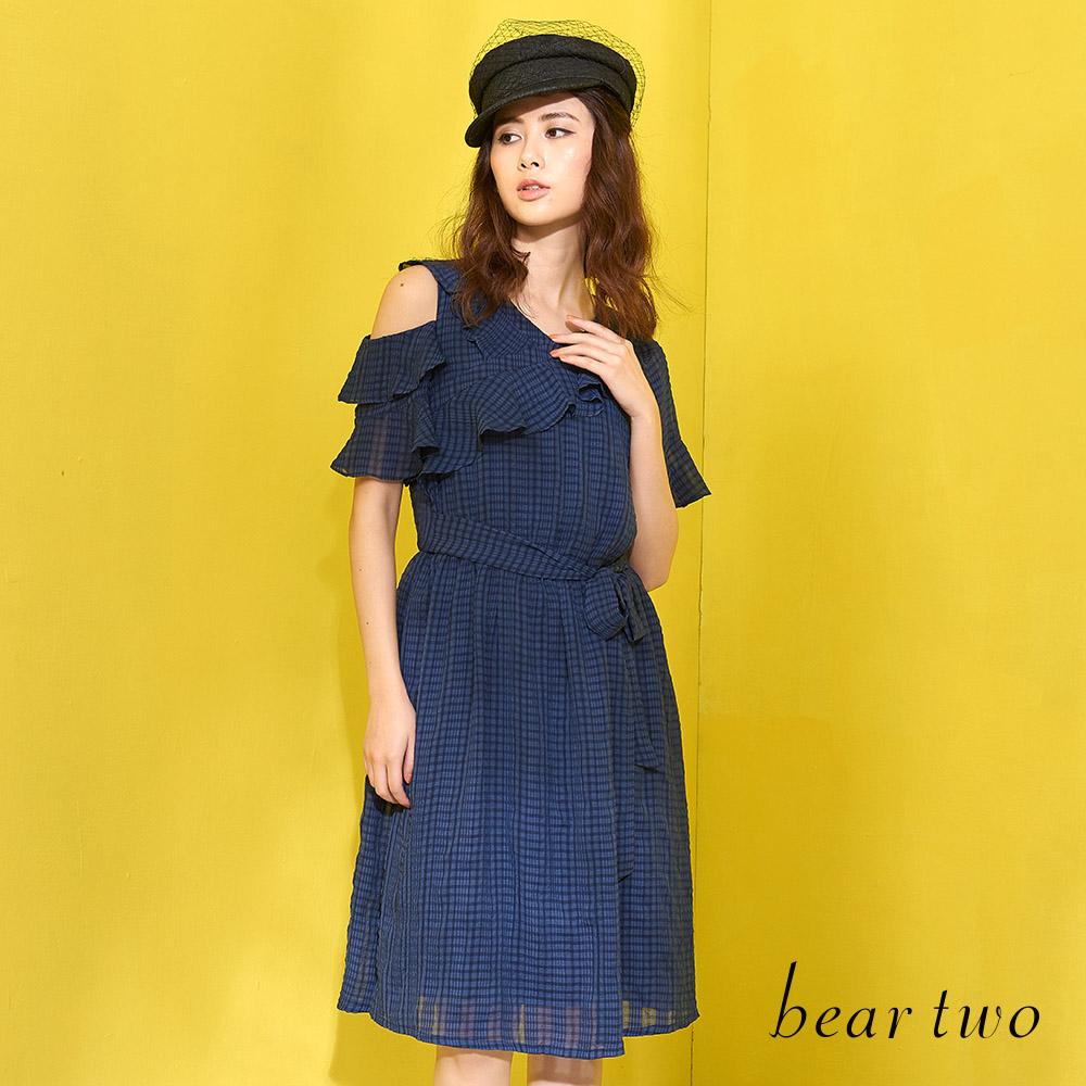 beartwo 甜美可愛露肩洋裝(二色)