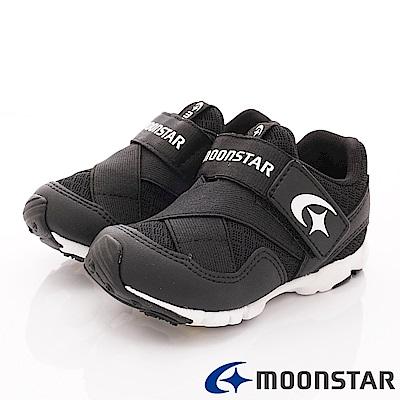 日本月星頂級競速童鞋 輕量繃帶鞋 KEI756黑(中小童段)