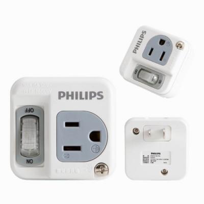 PHILIPS 1開1插電腦壁插 SPB1411W(兩入裝)