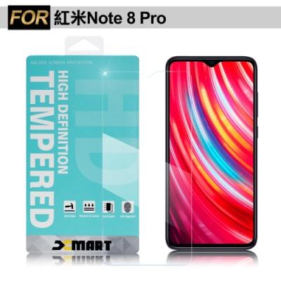 Xmart for 紅米 Note 8 Pro 薄型9H 玻璃保護貼-非滿版