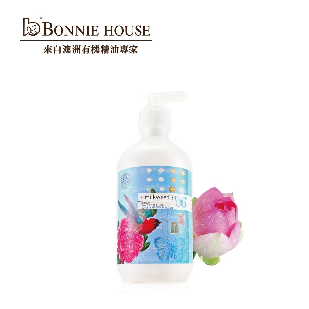 Bonnie House 乳草斑蝶蓮花玉蘭花洗髮乳500ml