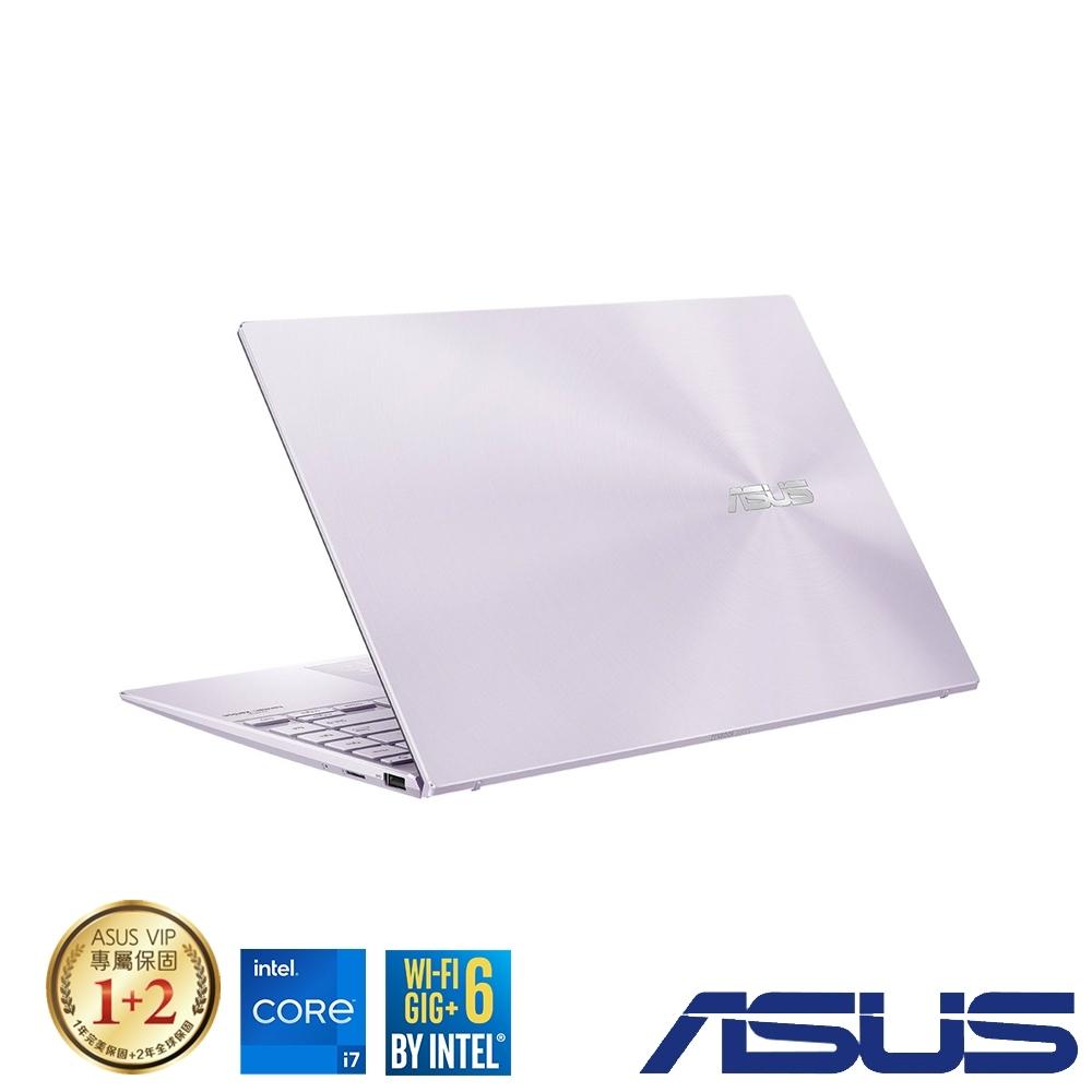 (組合)ASUS UX425EA 14吋筆電 (i7-1165G7/16G/512G SSD/ZenBook 14/星河紫)
