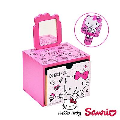 Hello Kitty 凱蒂貓造型手拿鏡 美妝收納 飾品收納 文具收納 桌上收納盒