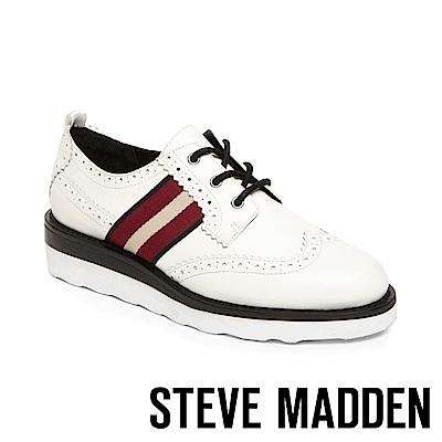 STEVE MADDEN-STANDARD時尚運動厚底牛津鞋-白色