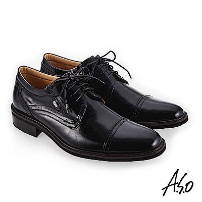 A.S.O 3D超動能 經典間約紳士鞋 黑