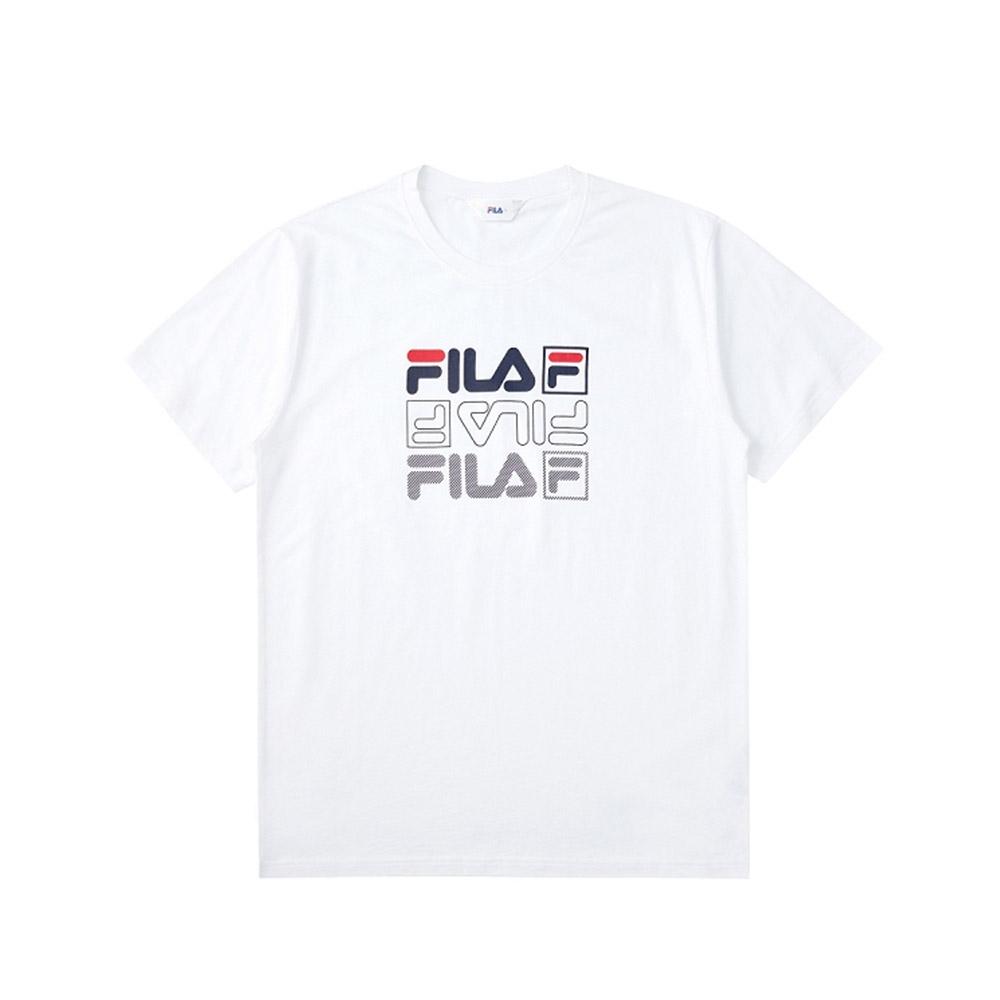 FILA 短袖圓領T恤-白色 1TEV-1514-WT