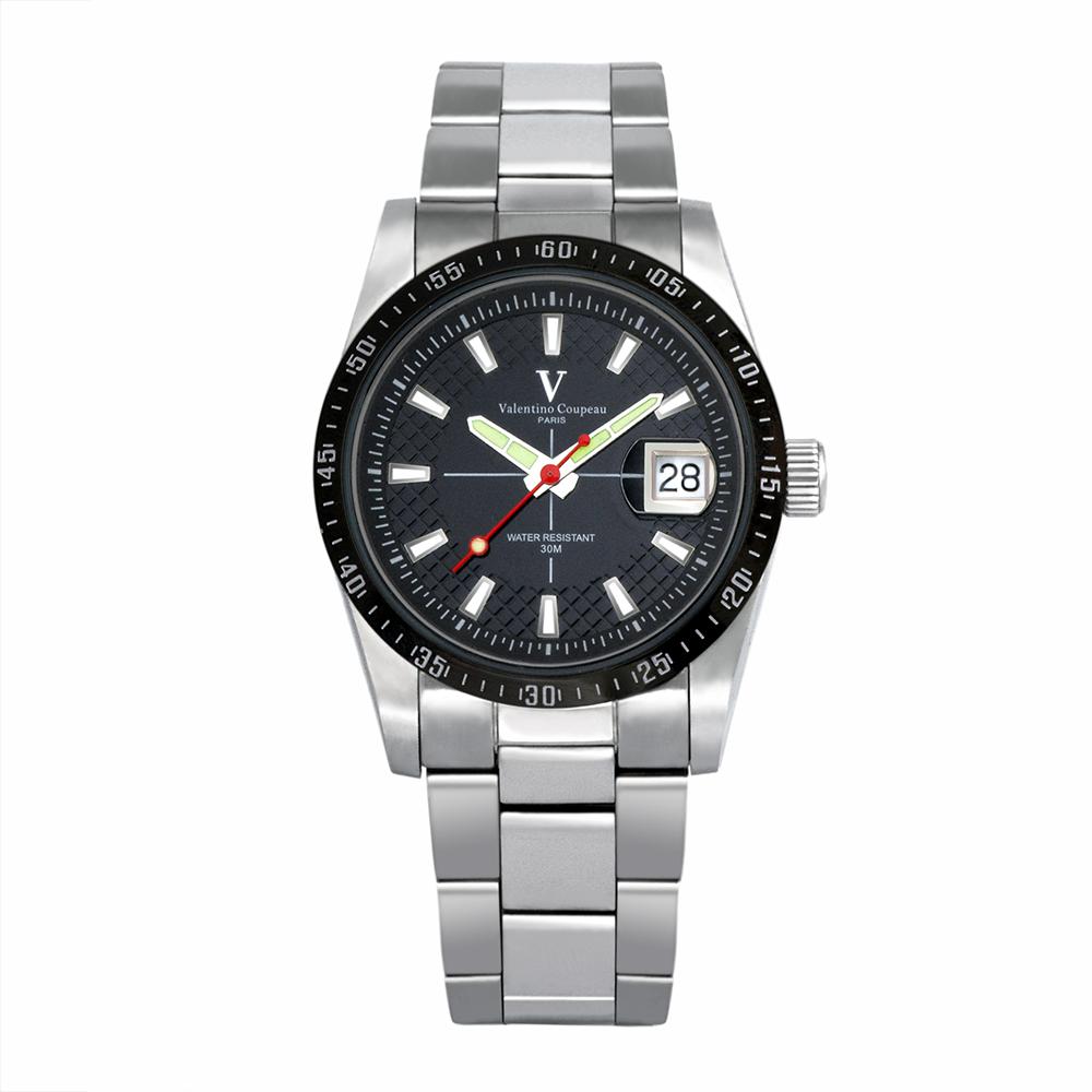 Valentino Coupeau 范倫鐵諾 古柏 經典品味腕錶 (黑面)