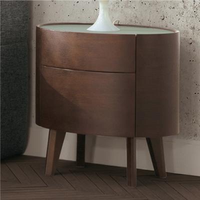 文創集 吉布地   現代2尺玻璃二抽床頭櫃/收納櫃-60x42x60cm免組