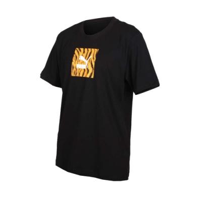 PUMA 男流行系列短袖T恤-慢跑 路跑 黑黃白