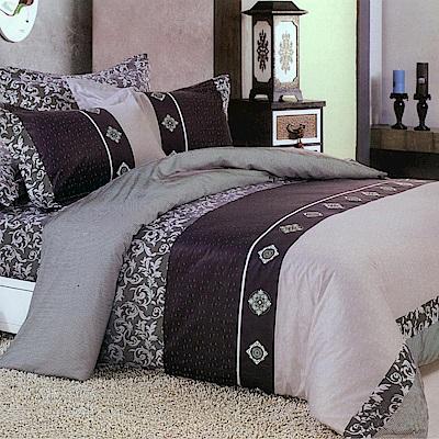 FOCA經典貴族-雙人-100%精梳純棉八件式舖棉二用被床罩組