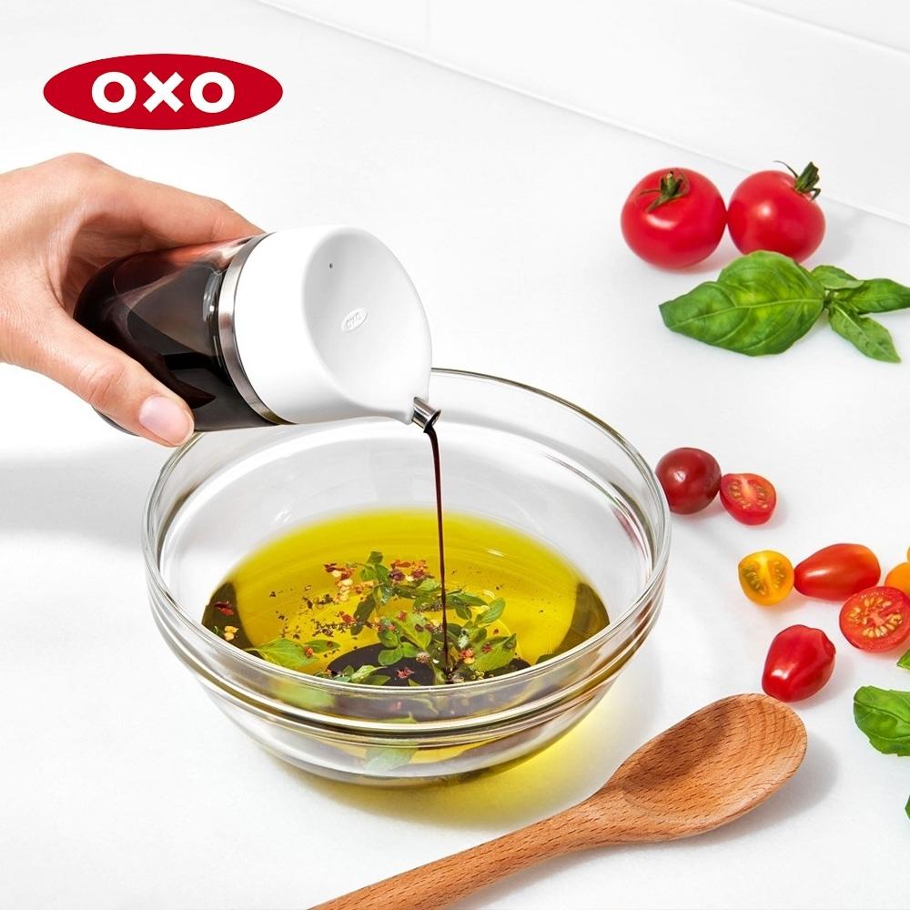 美國OXO 不滴漏玻璃調味瓶-150ml(快)
