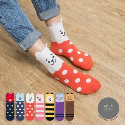 阿華有事嗎  韓國襪子 阿米最愛中筒襪(6)  韓妞必備 正韓百搭純棉襪
