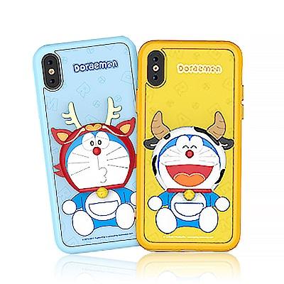 iStyle iPhone X/XS 哆啦A夢 趣味生肖手機殼-牛龍