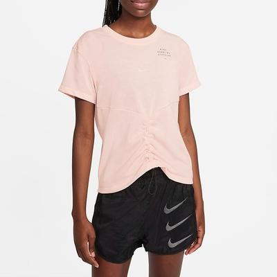 Nike Dri-FIT Run Division 女短袖上衣-粉橘-DD5316864