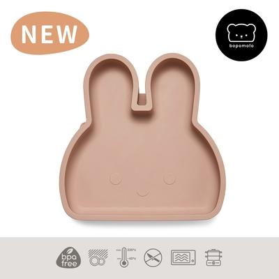 新加坡bopomofo 兔兔矽膠吸盤餐具-灰粉