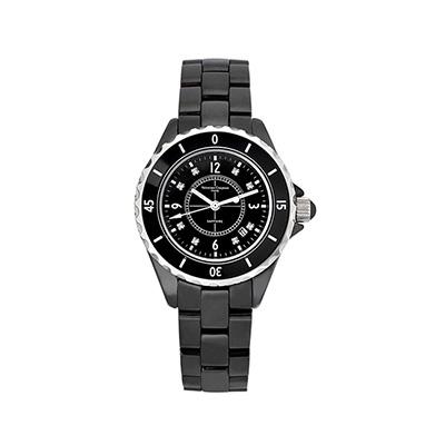Valentino Coupeau 范倫鐵諾 古柏 精密陶瓷腕錶-黑陶/35mm