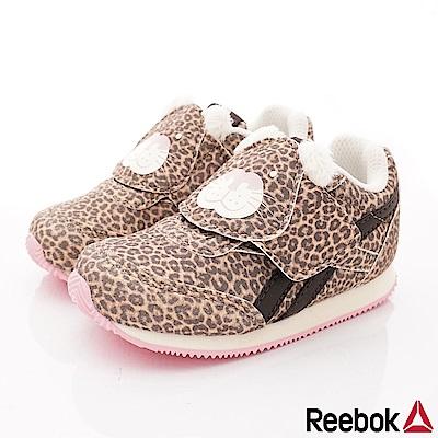 Reebok頂級童鞋 豹紋童趣運動款 FI036咖(寶寶段)