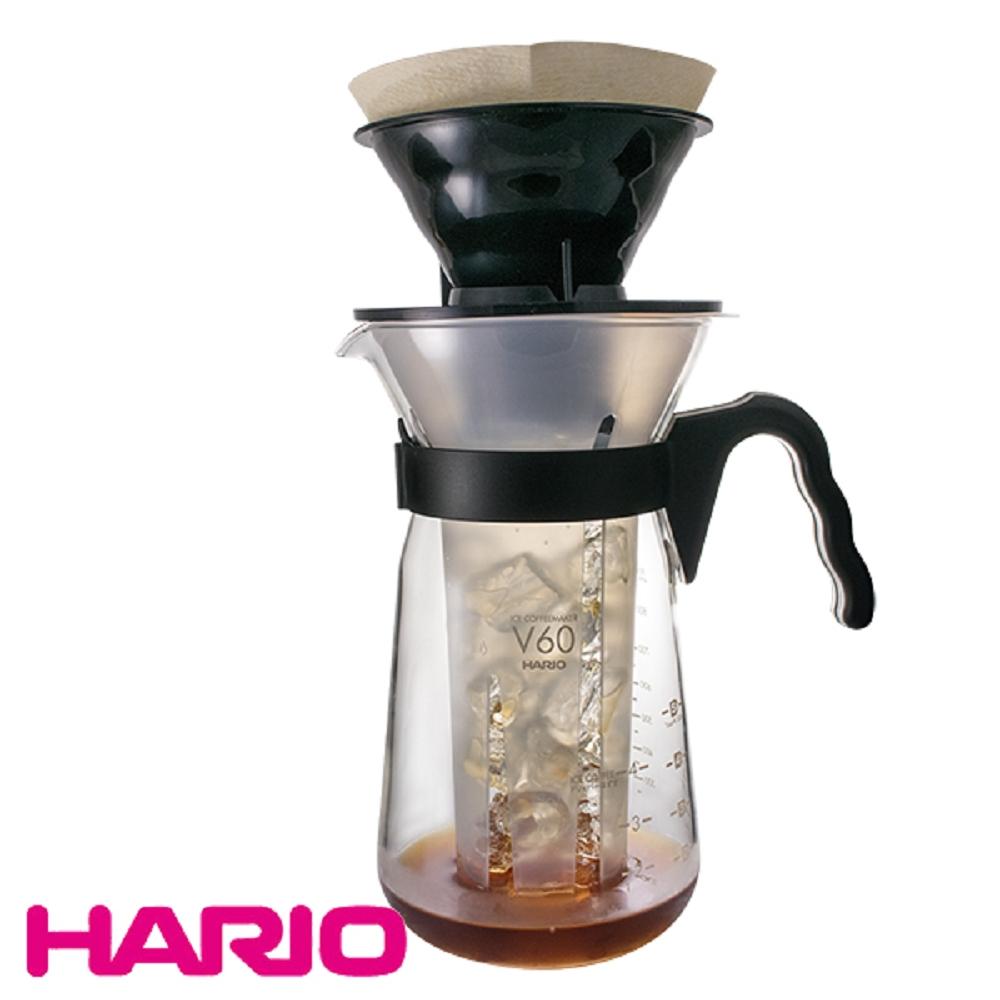【日本 HARIO】冰熱咖啡 手沖咖啡壺700ml / 附濾紙10入(VIC-02B)