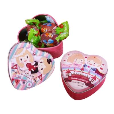 Choco Day 巧克力糖果禮盒-愛心小鐵盒(兩盒組)