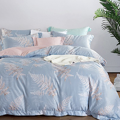 Saint Rose 飛揚-藍 加大吸濕排汗天絲兩用被套床包四件組
