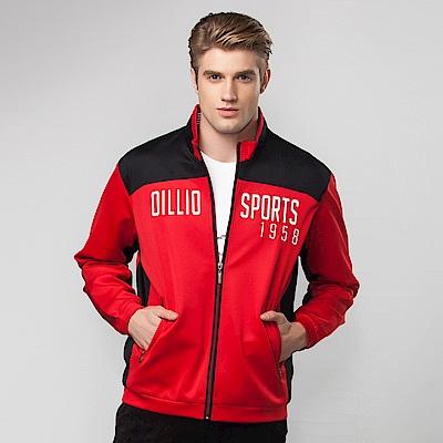 歐洲貴族oillio 休閒薄外套 OILLIO SPORTS 電腦刺繡 紅色
