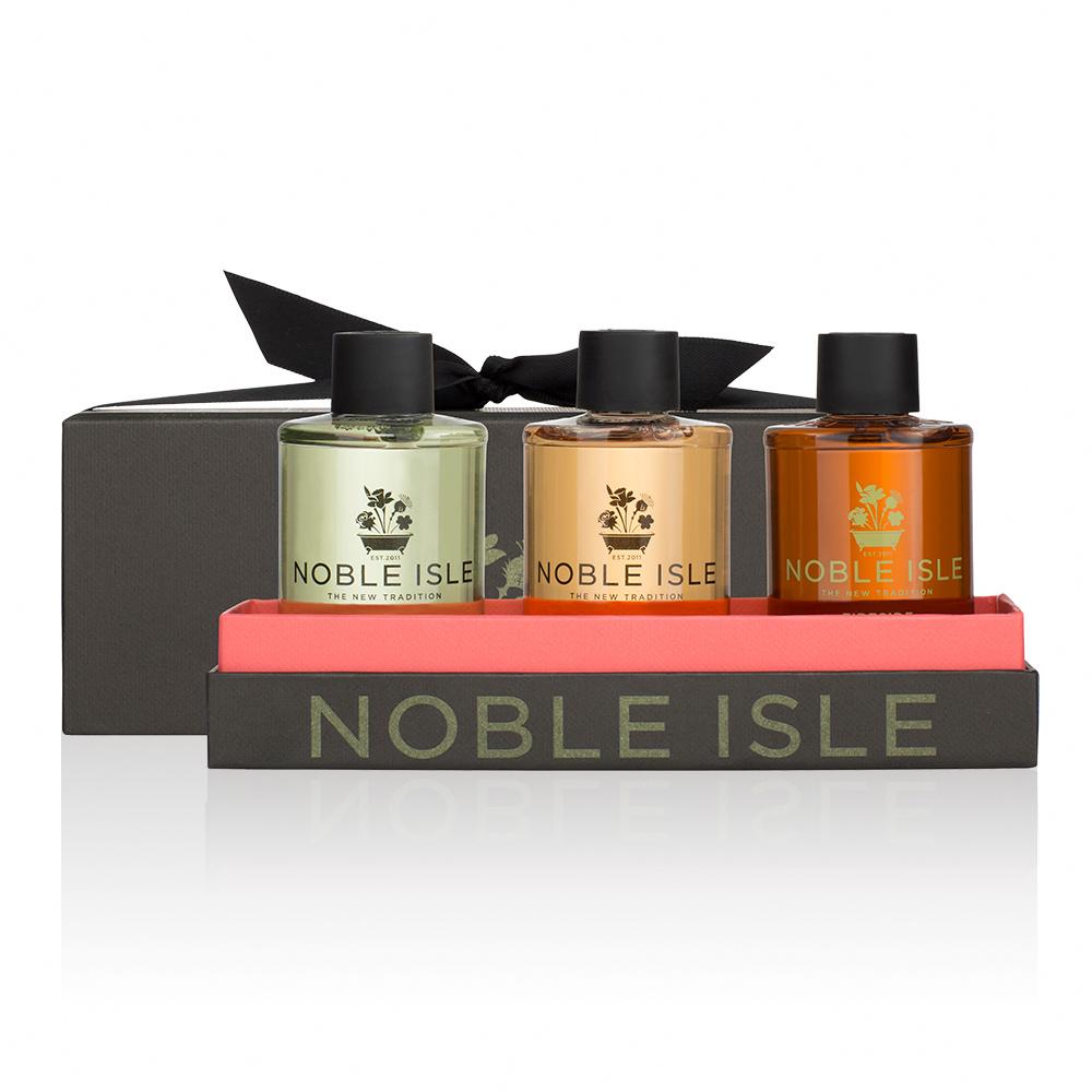 NOBLE ISLE 沐浴膠三入組禮盒(夏季日出+柳樹之歌+暖爐各75ML)
