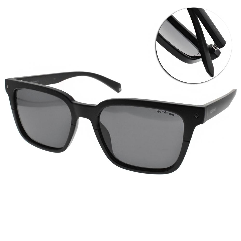 Polaroid 偏光太陽眼鏡 簡約百搭款/霧黑 #PLD6044S 807M9
