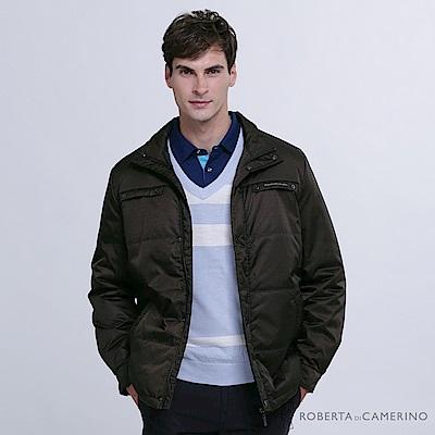 ROBERTA諾貝達 帥氣型男 內裡鋪棉夾克外套 黑色