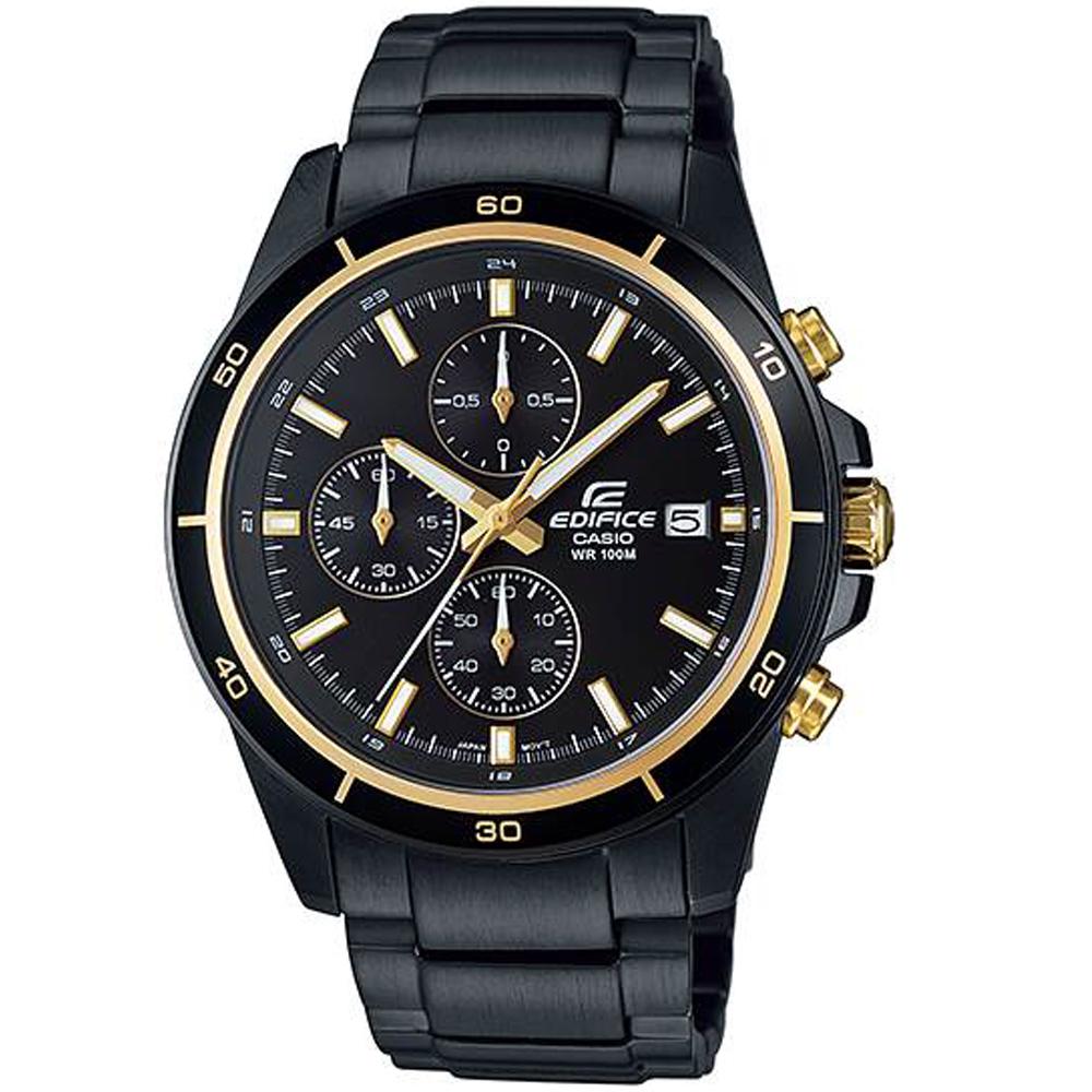CASIO卡西歐EDIFICE賽車腕錶(EFR-526BK-1A9)-金