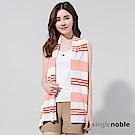 獨身貴族 清新夏日條紋斜裁針織罩衫(2色)