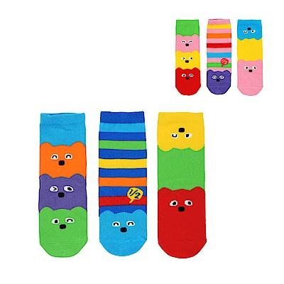 WHY AND 1/2 三件組普普熊短襪 多色可選