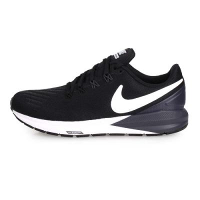 NIKE 女慢跑鞋 AIR ZOOM STRUCTURE 22 黑丈青白
