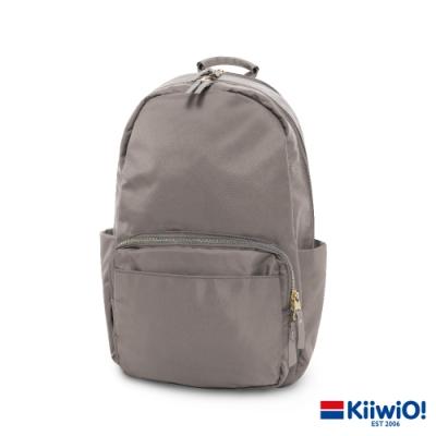 Kiiwi O! 質感防潑尼龍雙層 筆電包/後背包 YVONNE 灰