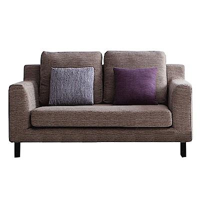 品家居 黛奧灰亞麻布實木沙發雙人座-170x93x80cm免組