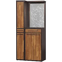 文創集 杜奧爾時尚3尺四門屏風雙面隔間櫃/鞋櫃組合-90x38x195cm免組
