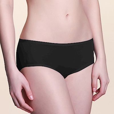 黛安芬-無鋼圈無痕系列平口內褲 M-EL(前衛黑)
