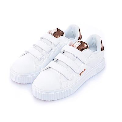 FILA #BOLD SHINY 女潮流復古鞋-粉鍶金5-C601S-800
