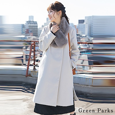 Green Parks 【SET ITEM】氣質簡約長版大衣+柔軟感圍巾