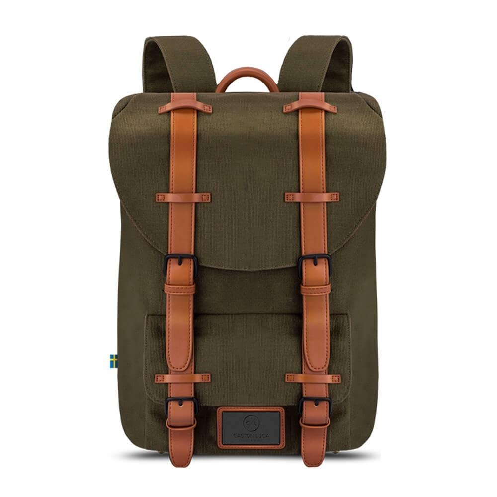 Gaston Luga Classic 經典後背包 - 橄欖綠/咖啡棕