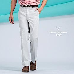 Emilio Valentino典雅簡約彈性休閒長褲_米白(77-8A1001)