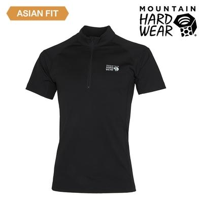 【美國 Mountain Hardwear】Estero Short Sleeve Zip T 彈性短袖拉鍊排汗衣 男款 黑色 #OE1249