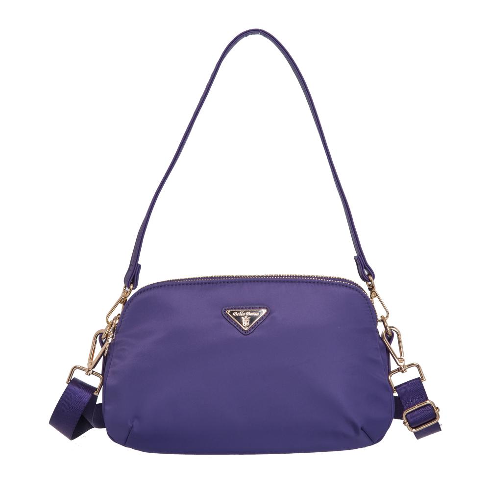 Bella Borsa 多隔層兩用側背包-紫 BB18A001PL